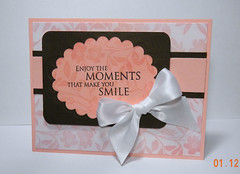 Great Find (krikee stamping) Tags: pink brown cards scallops ribbon heroarts rubberstamps cuttlebug nestabilities d3042 cg146