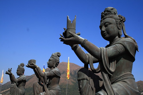 Statues at the Giant Buddha of Hong Kong