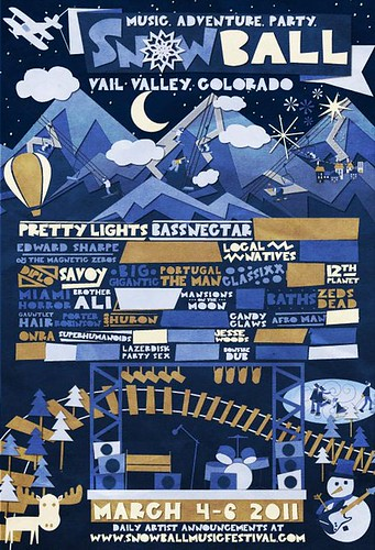 Partial Reveal for The Snowball Music Festival in Colorado