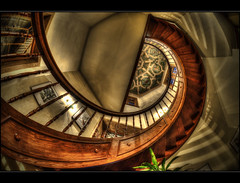Tour de Schlssle III (Kemoauc) Tags: house castle architecture photoshop germany deutschland nikon view haus fisheye schloss hdr topaz historisch wrttemberg d90 photomatix hemmingen nikond90 strohgu hdrterrorist kemoauc