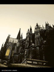 Cologne Cathedral (MOSTAFA HAMAD | PHOTOGRAPHY) Tags: pictures sky italy abstract black berlin bird art love photoshop canon germany deutschland photography is europa bonn alone fotografie photographie cathedral iraq 110 creative cologne hannover ixus fotografia psd hamad koln  mostafa fotografa fotografering    iaq fotoraflk       ringexcellence