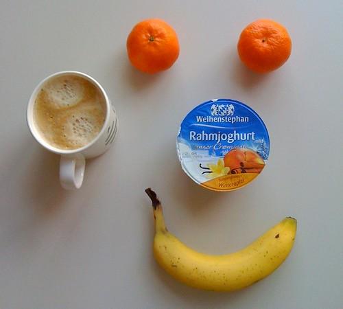 Rahmjoghurt, Clementinen & Banane
