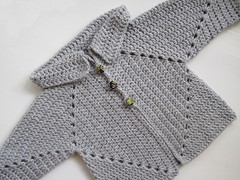 Crochet Stitches With No Holes : Ravelry: Sues No holes Hexagon Baby Sweater pattern by Cozys Corner