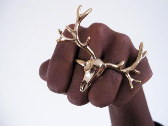topshop antler ring