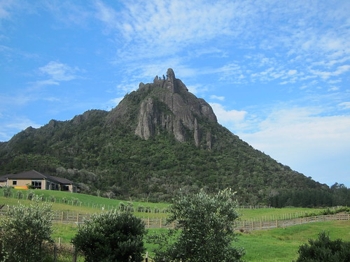 Blue skies over Mount Manaia