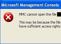MMC Cannot Open File