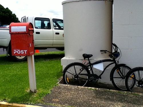 オーストラリア最東端のポスト