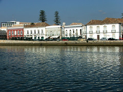 aa Tavira. Some of houses have four sided roofs.  Holiday in Algarve Feb 2009. 418 (dvorahuk) Tags: portugal algarve tavira ilustrarportugal houseswithfoursidedroofs seenfromacrosstherivergilhao