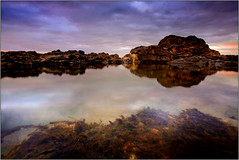 Traeth Ogwr Rockpool, the first of 2011! (opobs) Tags: sunset sky beach water southwales wales seaside sand rocks january canon5d gitzo ogmore valeofglamorgan bridgend anglefinder ogmorebysea 2011 1740mml wetknees ogmorebeach opobs cokinxpro traethogwr michaeljstokesawpf