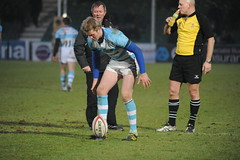 Worcester Warriors vs Plymouth Albion. (Stanthefan) Tags: england grass rain sport vertical horizontal shirt team mud boots action stadium attack pitch worcestershire twopeople penalty oneperson worcester defend gbr threepeople fieldofplay