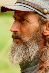 Teller of Tales (macone2) Tags: portrait man 20d canon beard war civil civilwar
