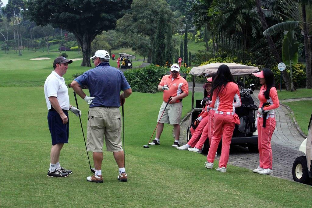 Nude asian golf caddies