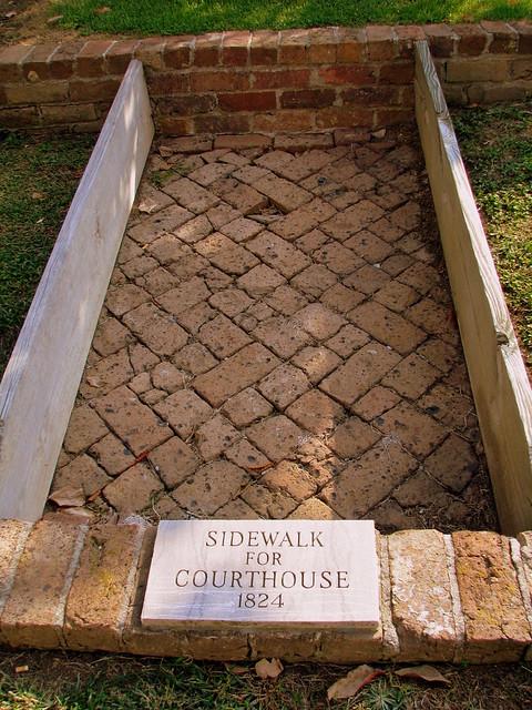 Preserved Greene County Sidewalk
