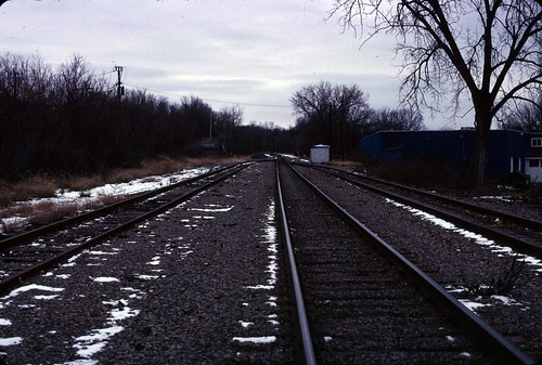 Railroad tracks in North Albany - December 26, 2010 - my final Kodachrome shots