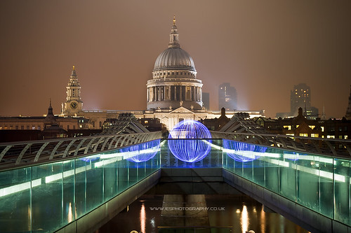 St Pauls and Millennium Bridge, Orb
