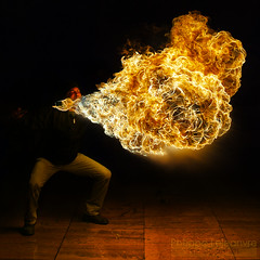 Exhale! (Philippe Lejeanvre) Tags: paris fire dragon flames flame bbc feu bcc palaisdetokyo flammes 2011 7thanniversary burncrewconcept cracheursdefeu philippelejeanvre