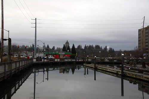 Percival Landing, Olympia Washington High Tide