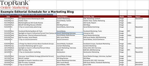 SEO Tool: Basic Editorial Plan @TopRank