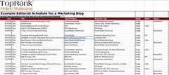SEO Tool: Basic Editorial Plan @TopRank