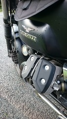 Moto Guzzi needing some TLC (urbannivag) Tags: northcoast500 scotland adv triumph speedtriple motoguzzi v7 motorbikes adventure touring