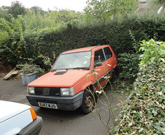 1988 FIAT PANDA 4X4 (shagracer) Tags: abandoned unloved neglected decaying dead dying dull faded forgotten flat mat paint paintwork work wreck slime gruby grime sorn laid stood up awd 4wd 1988 fiat panda 4x4 e147wjo red