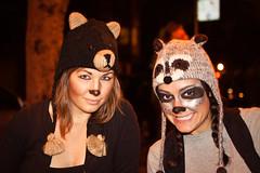 (helenadagmar) Tags: sanfrancisco california bear animal canon costume critter hats makeup raccoon visitors 50d
