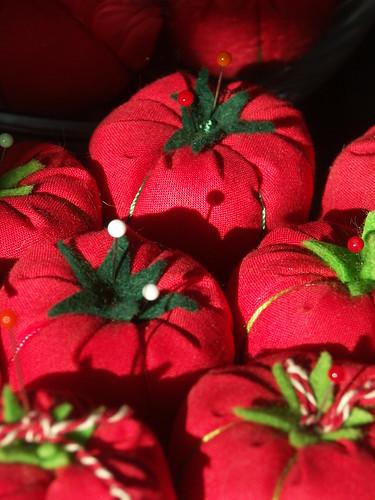 Lucky tomato pincushions