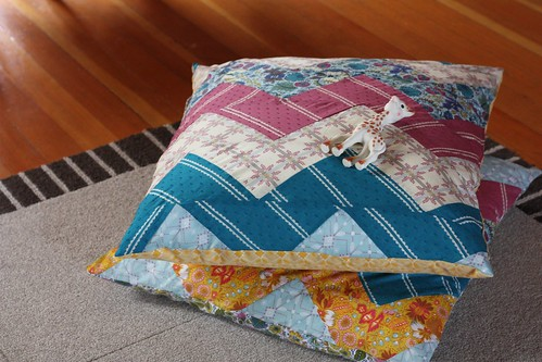 Finished Zig Zag Floor Pillows