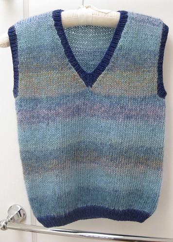 Blue mohair vest