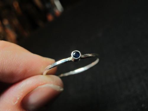 Sapphire trinket ring