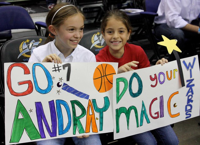 washington wizards, fans, young girls