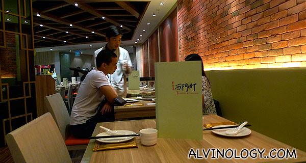 Inside Ximending Restaurant