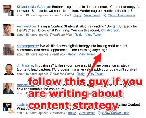 """content strategy?"" -http - Twitter Search"