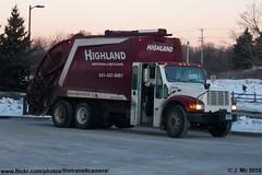 Highland Sanitation 104 (TheTransitCamera) Tags: trash truck burgundy rear collection highland international rubbish chassis loader recycling sanitation mcneilus