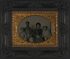 [Unidentified African American soldier in Union uniform with wife and two daughters] (LOC) (The Library of Congress) Tags: family portrait usa black vintage soldier unitedstatesofamerica union civilwar africanamerican libraryofcongress yankee yankees thenorth theunion americancivilwar warbetweenthestates uscivilwar thecivilwar xmlns:dc=httppurlorgdcelements11 dc:identifier=httphdllocgovlocpnpppmsca26454
