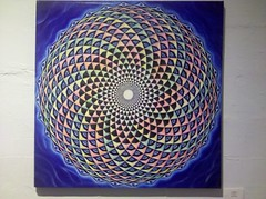 Artwork by my friend Anya Nadal. when you stare at it,it spins