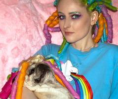 Day 6 of 365 - Year 2 (wisely-chosen) Tags: dog selfportrait me december pug bebe bluehair 2010 theempress beebs greenhair cameraraw fawnpug 365days dollwig manicpanicatomicturquoise rescuedpug empressbebe empressbeebs sweetbeebs manicpanicelectricbanana curlformers manicpanicelectriclizard coastalscentsultrashimmermica