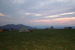 Hiker tent city on Max Patch