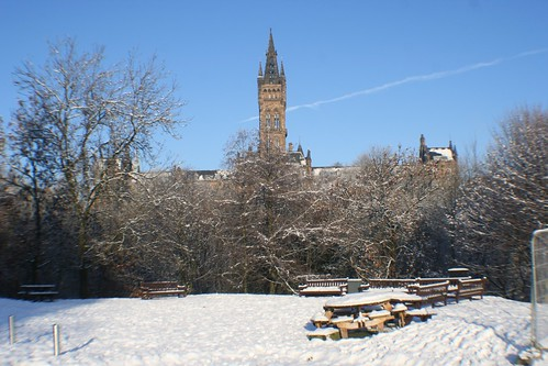 Glasgow University in Winter