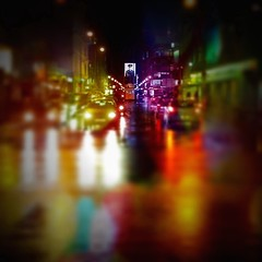 Night fell on central Berlin. (Sascha Unger) Tags: auto street autumn light people urban berlin art fall car rain weather wall architecture night kreuzberg germany licht traffic angle bokeh centre herbst border perspective center menschen stadt sascha architektur photostudio mitte verkehr regen wetter perspektive checkpointcharlie mauer checkpoint iphone nachts tiltshift pictureshow coolfx friedrichstrase kochstrase tiltshiftgenerator tiltshiftgen fxphotostudio sascha2010 saschaunger