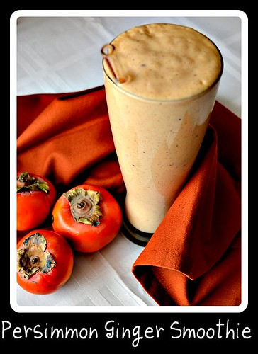 Persimmon Ginger Smoothie