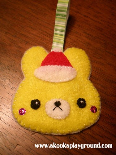 Kawaii Santa Bunny Ornament 2010 - for Little Miss