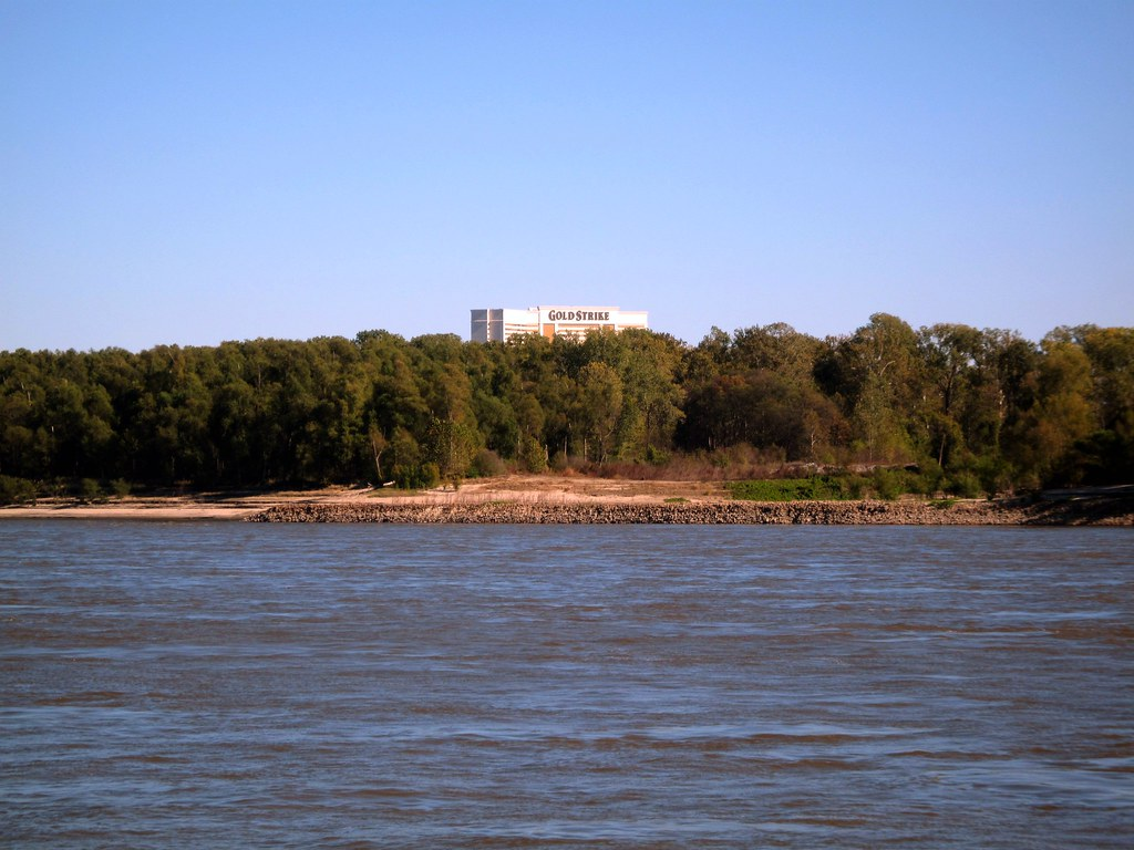 A View of the Gold Strike Hotel & Casino From the Mississippi River