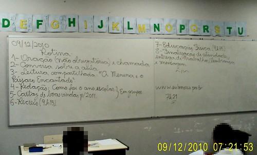 Rotina prevista e cumprida (09/12/2010). Arquivo pessoal.