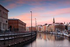 Copenhagen in early morning light (birklund) Tags: blue sunrise copenhagen denmark cityscape purple magenta magichour earlylight birklund
