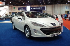 Peugeot 308 CC (AlBargan) Tags: auto show lumix autoshow panasonic cc international motor abu dhabi peugeot motorshow 2010 308  2011     abudahbi   lx3   dmclx3