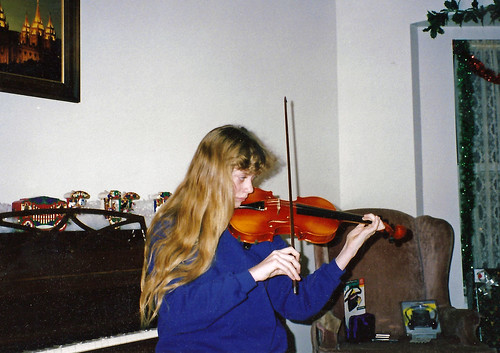 violin for Christmas 1992