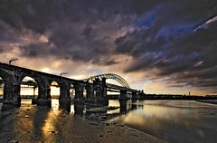 Two Bridges (Jeffpmcdonald) Tags: nov k nikon u 2010 silverjubileebridge d80 britanniabridge jeffpmcdonald runcornwidnesmerseyside ethelfledabridge