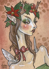 Yule Faerie ACEO