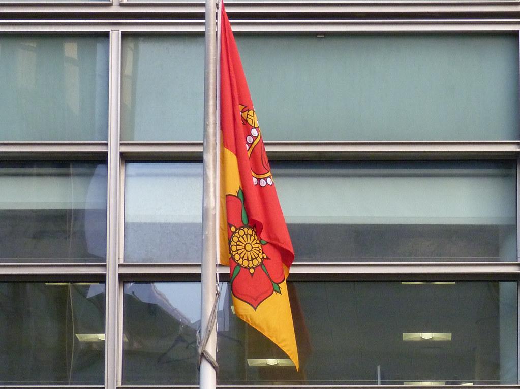 Hampshire flag flying outside Eland House